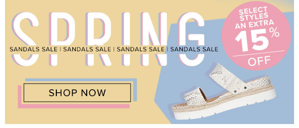 Spring Sandal Sale | An Extra 15% Off On Select Styles